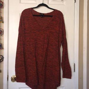Orange Knit Sweater